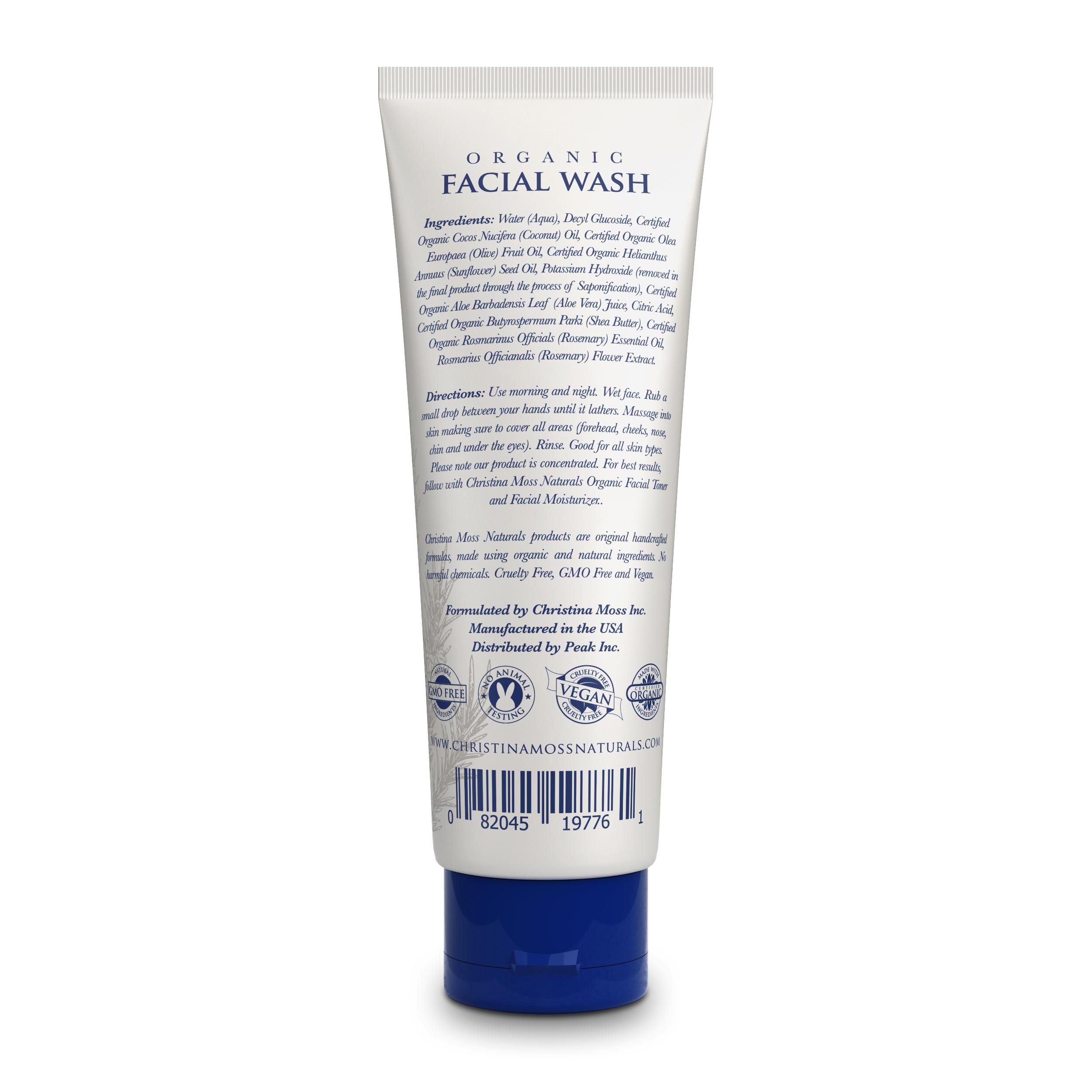 Review organic facial wash return theme