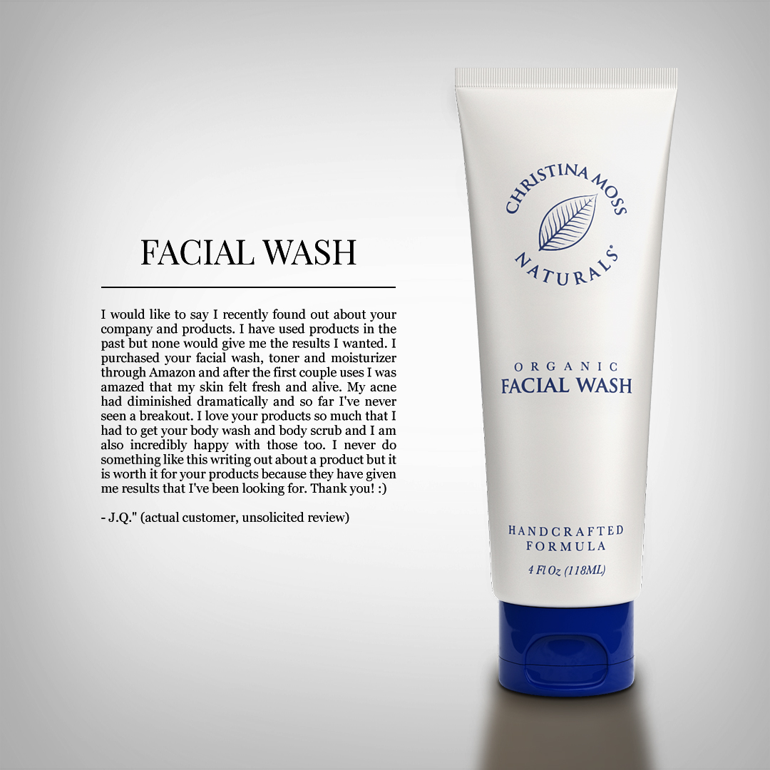 Excited too Review organic facial wash